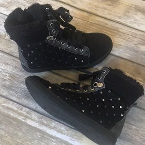 Justice bling high top Shoes